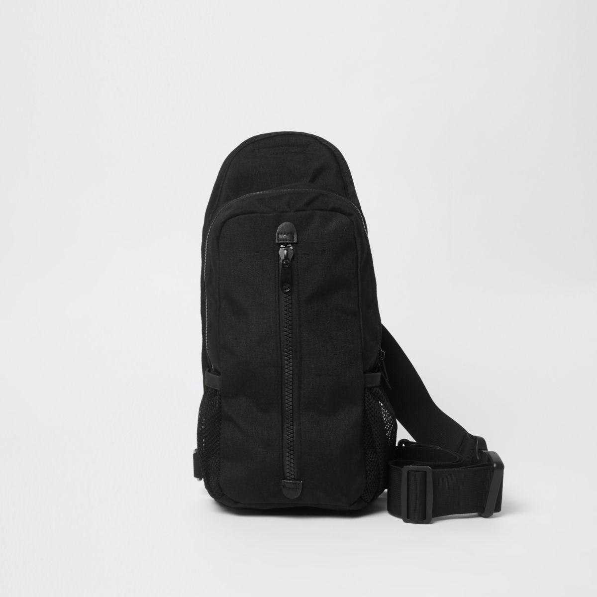 Black single strap backpack
