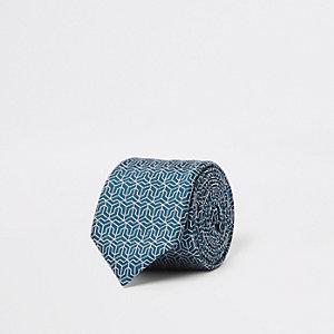 Green geo tie