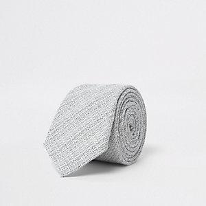 Grijze stropdas met textuur