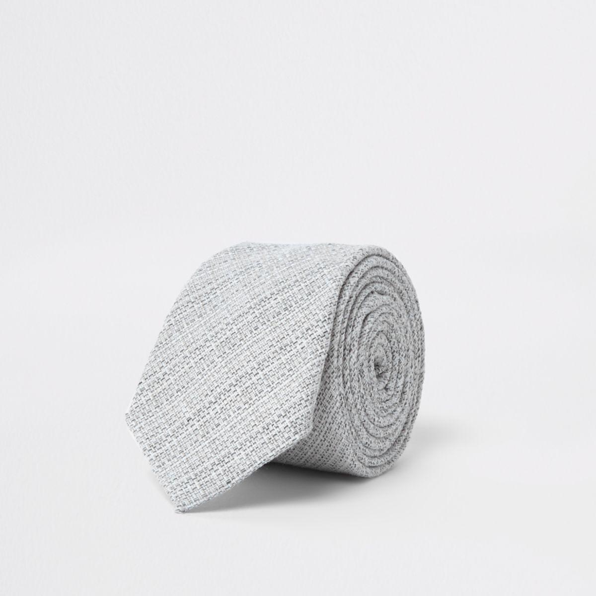 Grey tie scratchy texture
