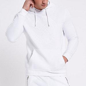 Witte pulloverhoodie met 'Golden State'-print