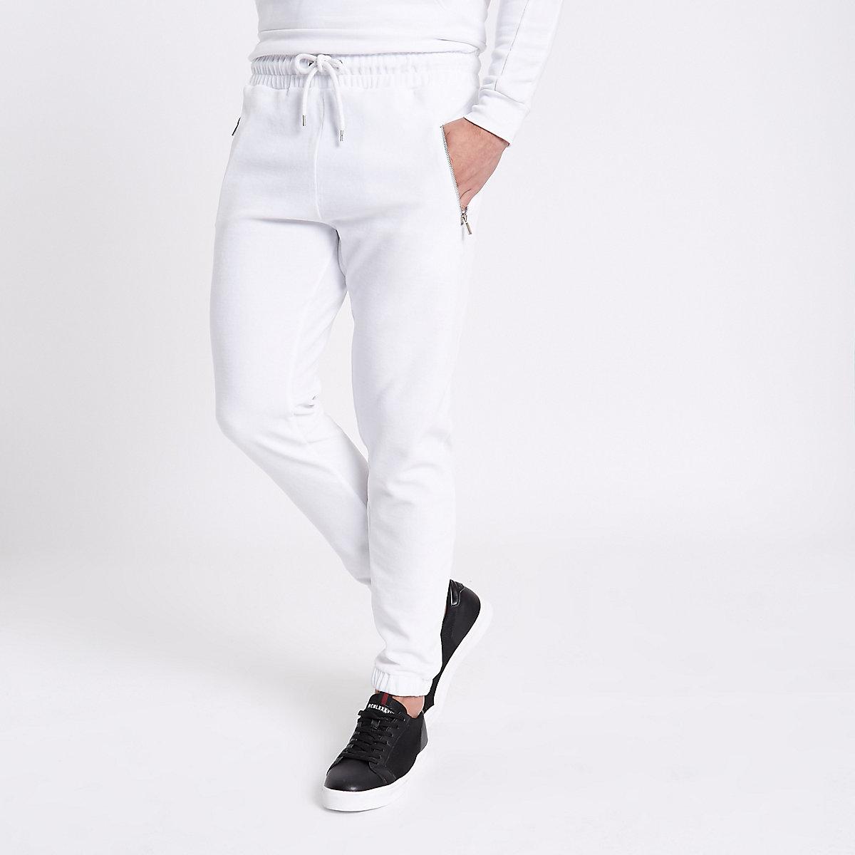 Pantalon de jogging en velours blanc