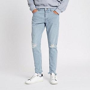 Only & Sons - Lichtblauwe gebleekte slim-fit jeans