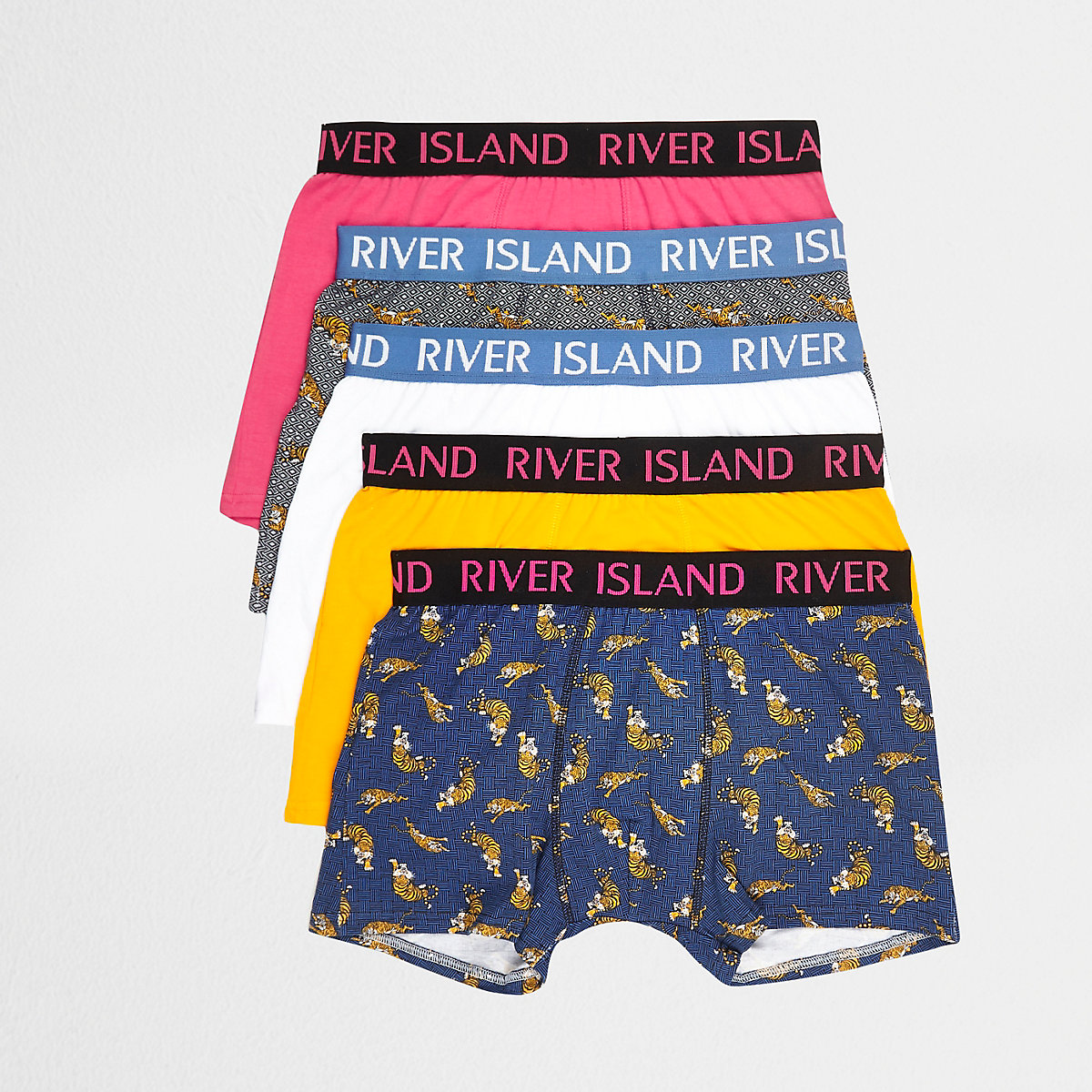 Yellow tiger print trunks multipack