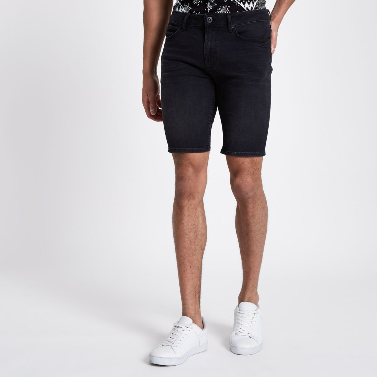 Black Ollie super skinny spray on shorts