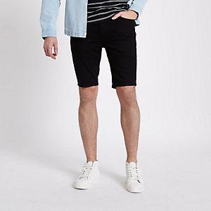 Schwarze, Skinny Jeans-Shorts