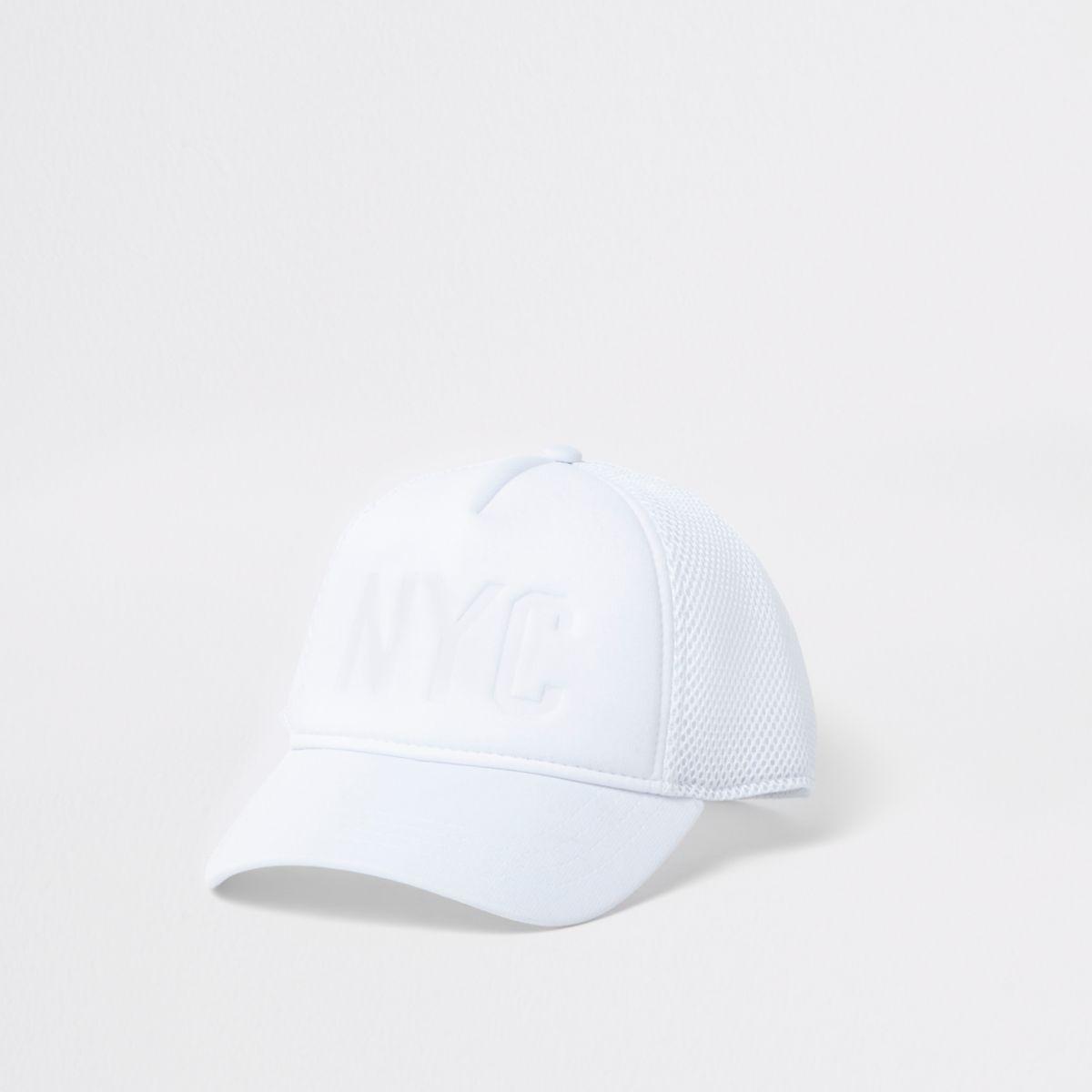 White 'NYC' baseball cap