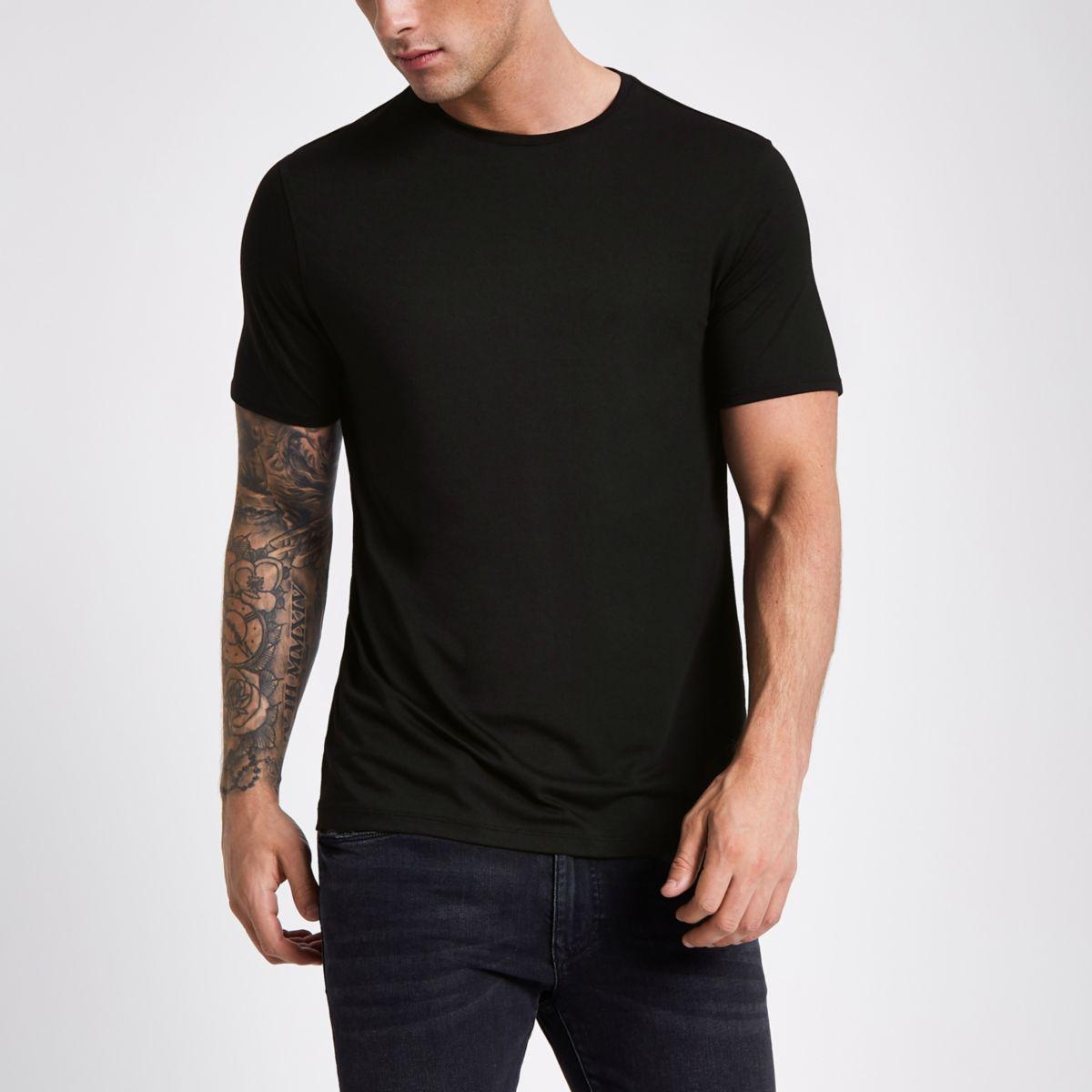 black slim fit crew neck t shirt t shirts t shirts