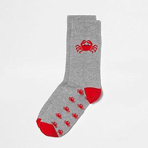 Grey crab socks