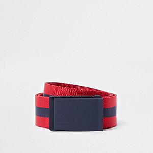 Rot-marineblau gestreifter Gürtel mit Schnalle