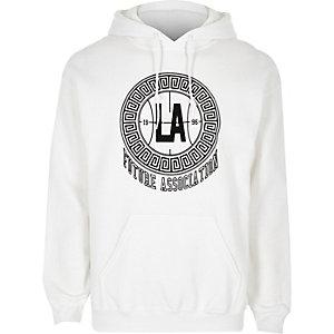Sweat imprimé «LA» floqué blanc
