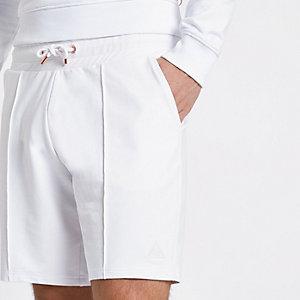 Concept – Short de jogging slim blanc