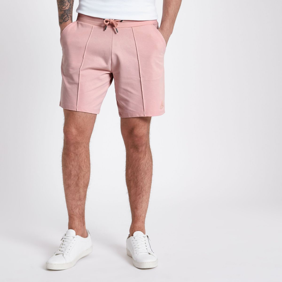Concept pink slim fit jogger shorts