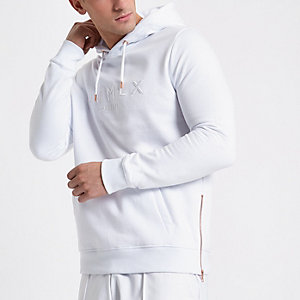 White Concept 'MCMLX' zip side hoodie
