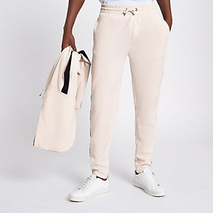 Stone side tape slim fit joggers
