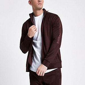 Concept dark red tracksuit jacket