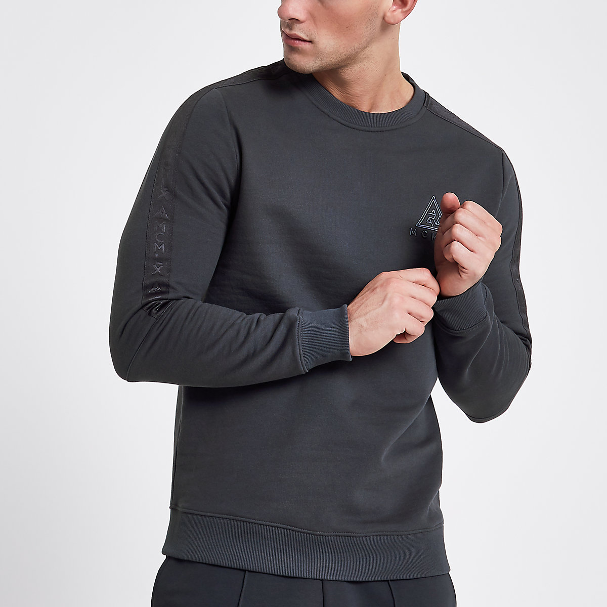 Concept grey 'MCMLX' crew neck jumper