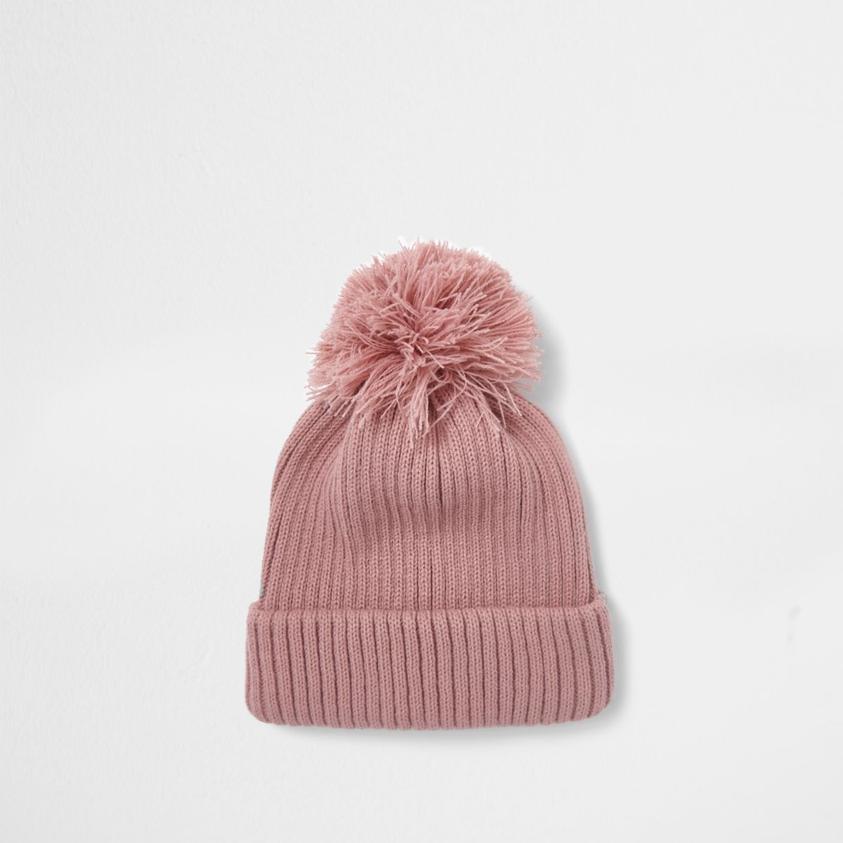 1c28d601a05 Pink bobble pom pom beanie hat - Accessories - Sale - men