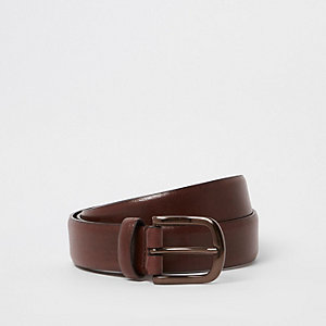 Brown antique buckle belt