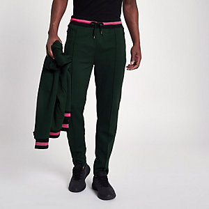 Green slim fit joggers