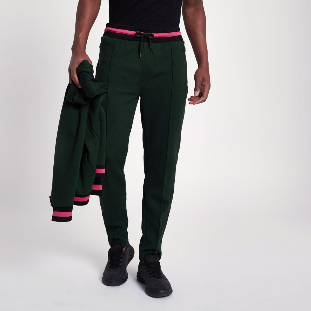 Green slim fit joggers