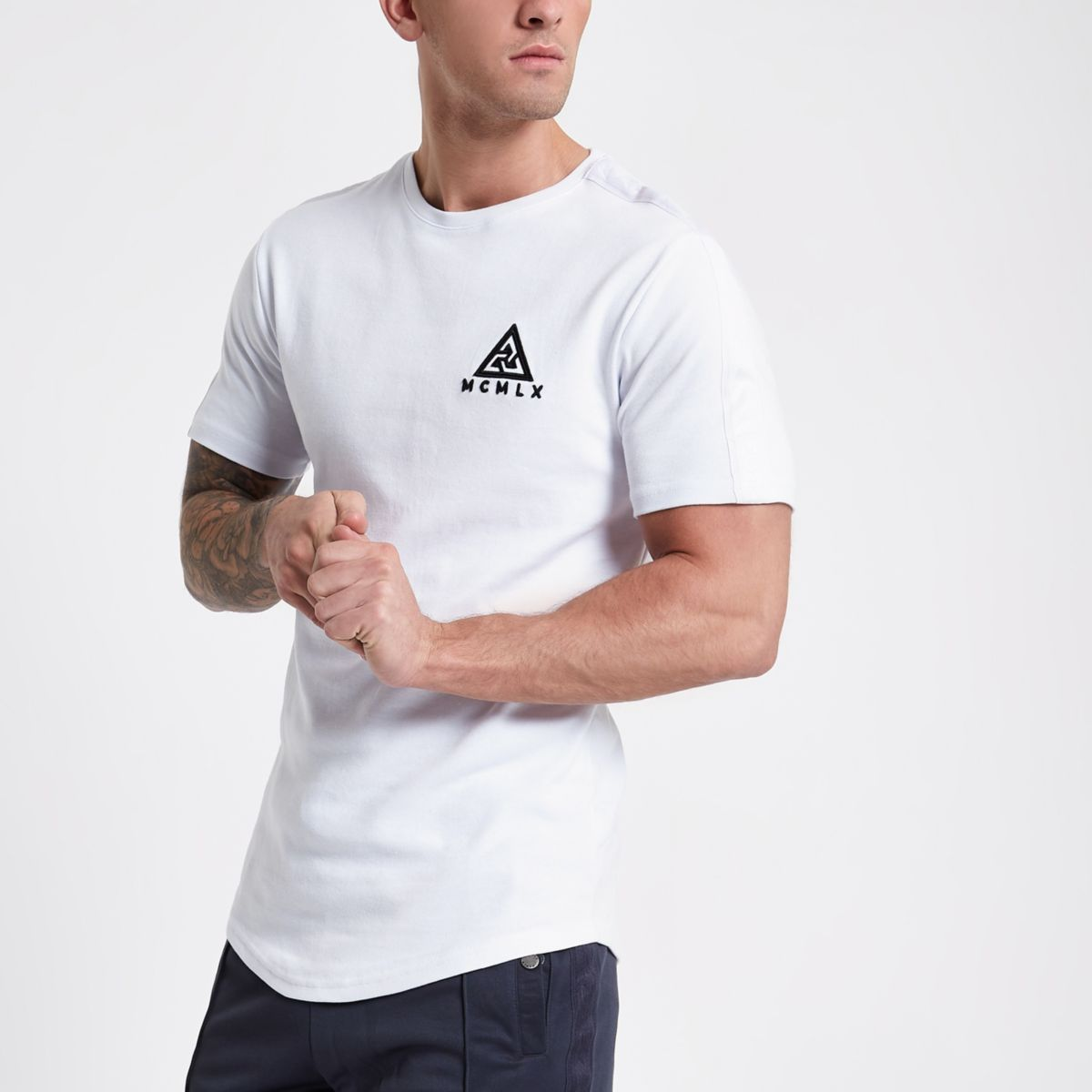 White Concept 'MCMLX' slim fit T-shirt