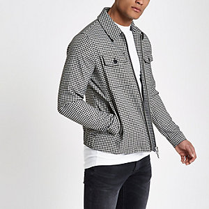 Black gingham print jacket