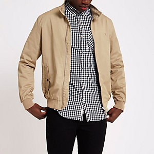 Veste Harrington brodée grège