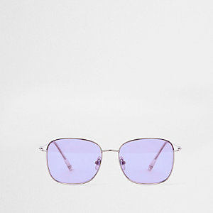 Purple hexagon sunglasses