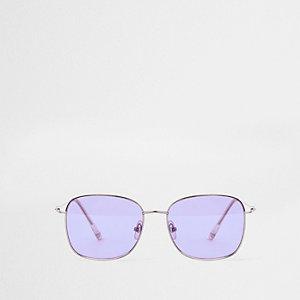 Sechseckige, pinke Sonnenbrille