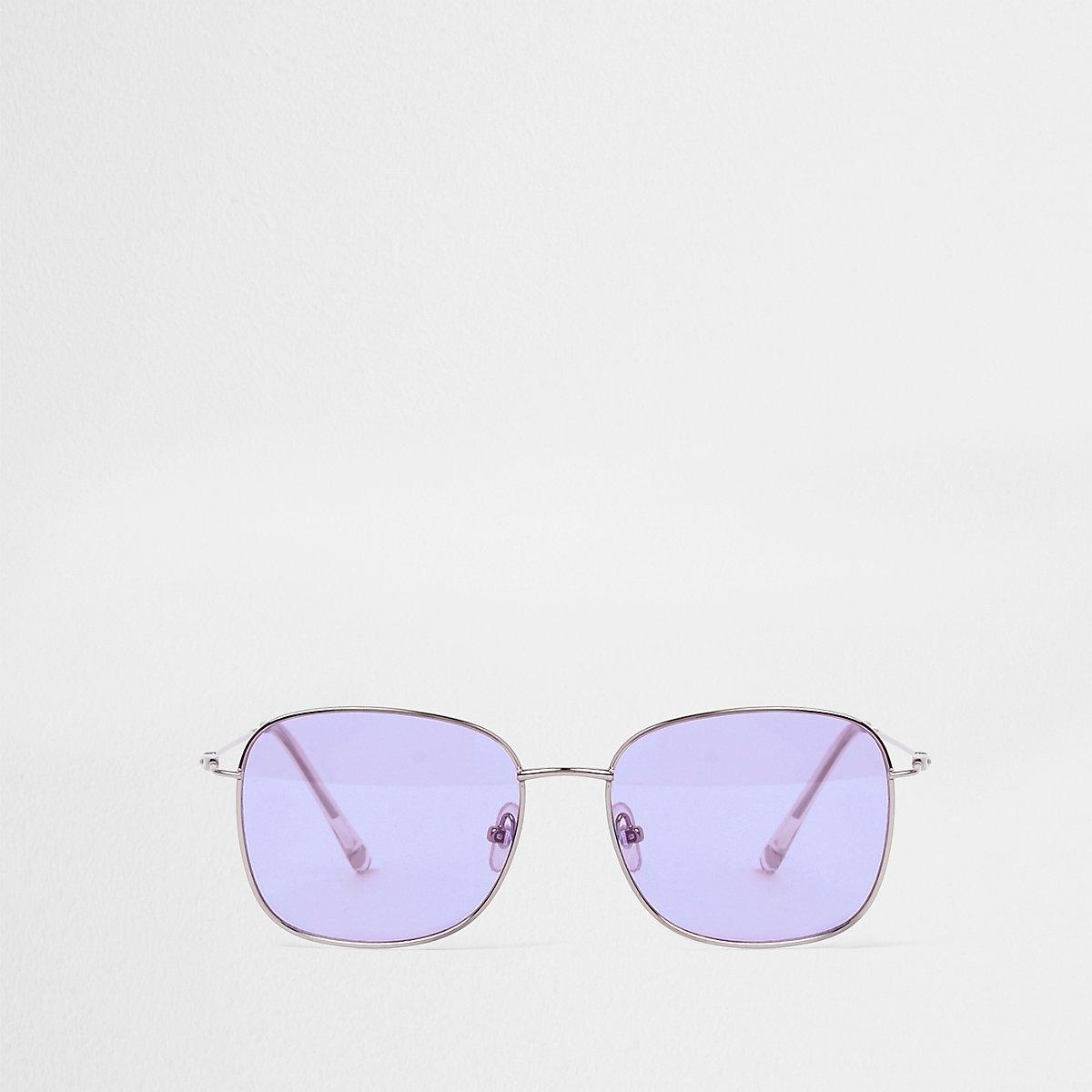 Purple hex sunglasses