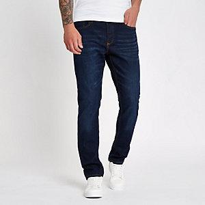 Donkerblauwe slim-fit jeans