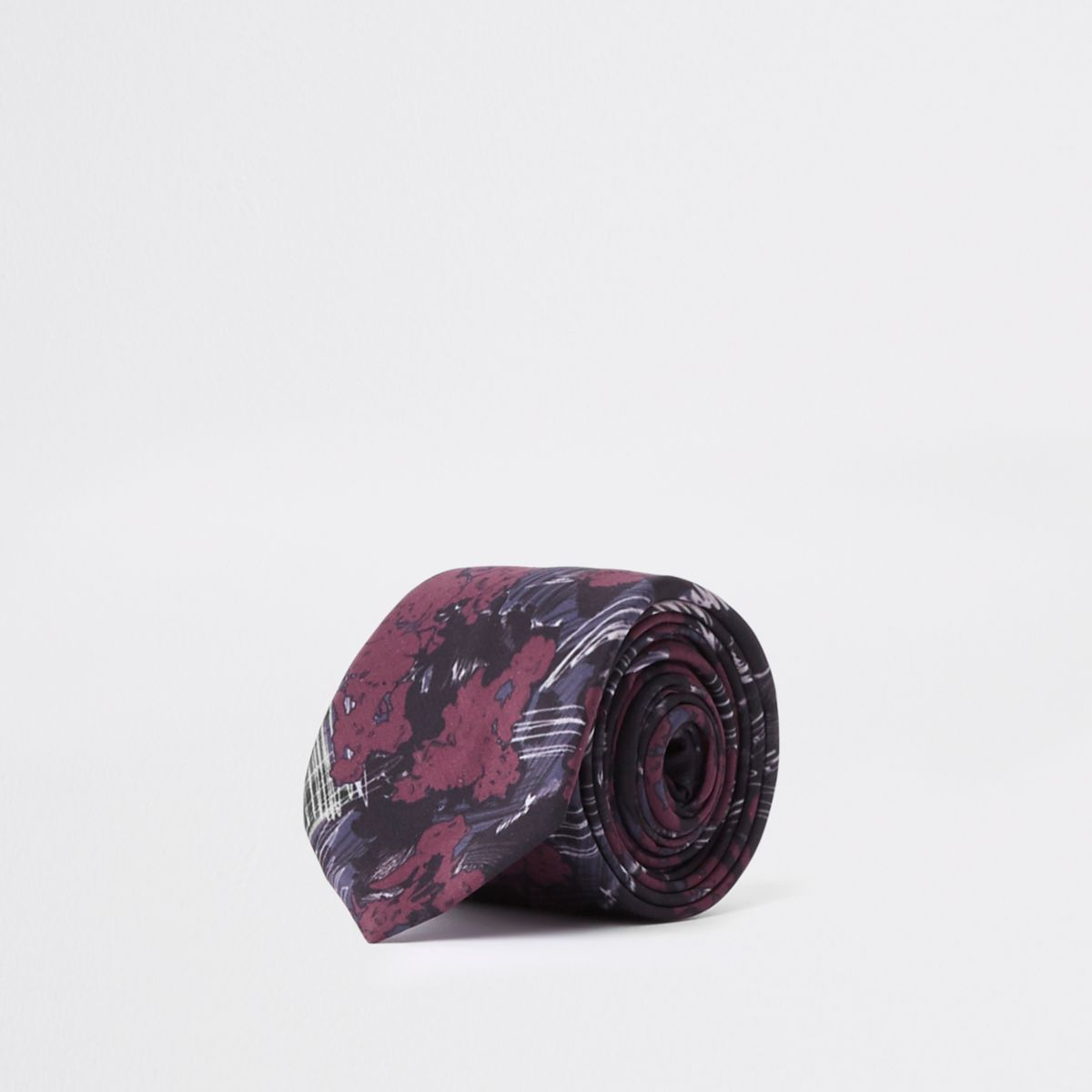 Black rose floral tie
