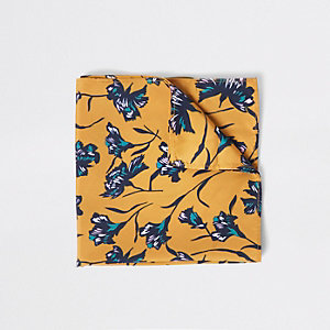 Yellow floral handkerchief