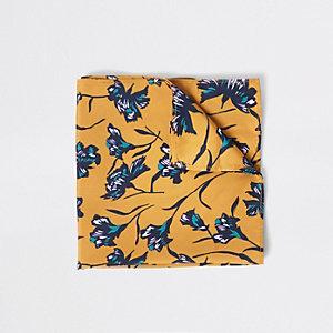 Mouchoir jaune à fleurs