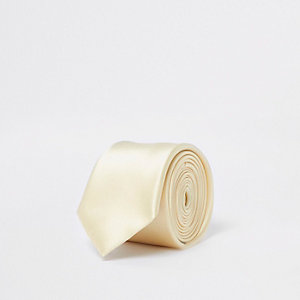 Gelbe Satin-Krawatte