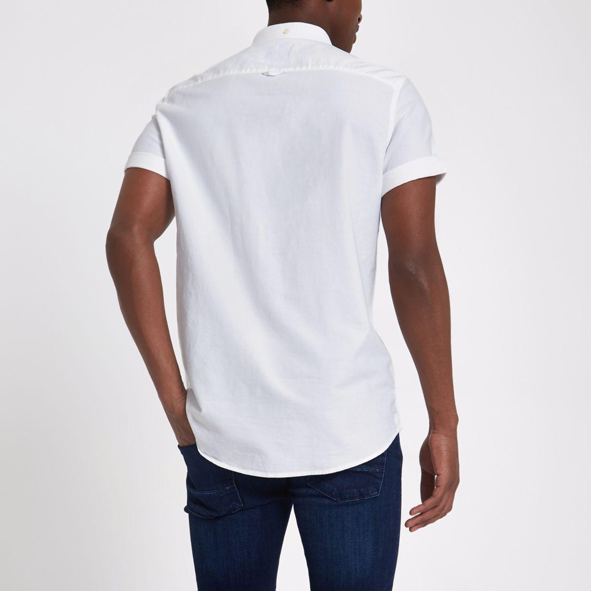 embroidered shirt wasp shirt Oxford embroidered White White wasp wasp Oxford White SqvtAtWP4