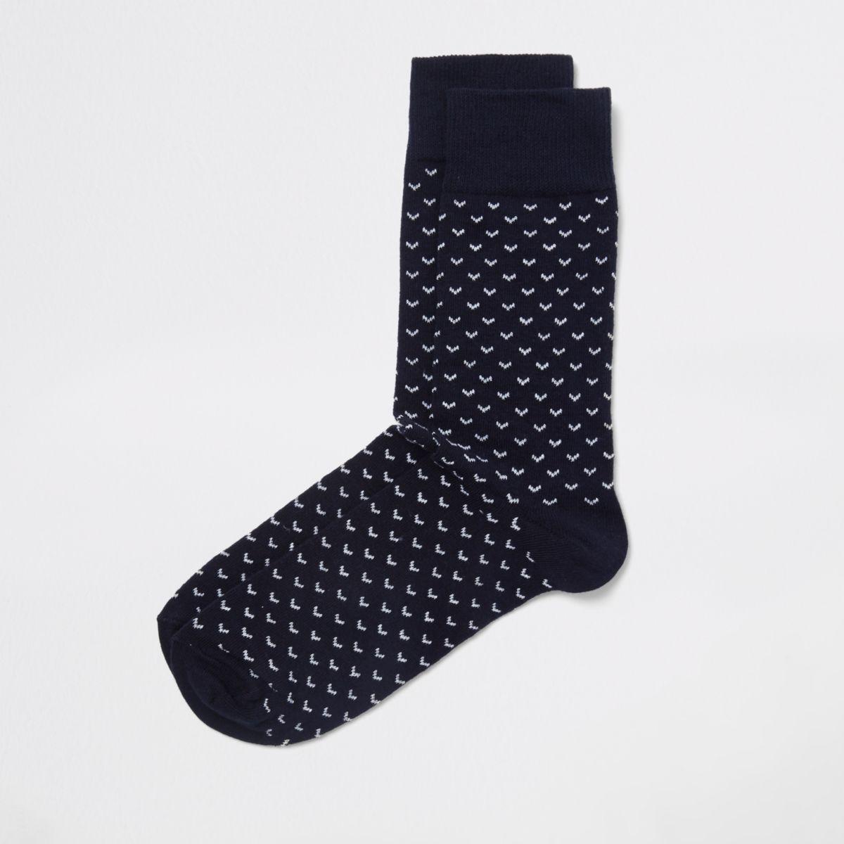 Navy chevron socks