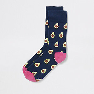 Blue avocado novelty socks