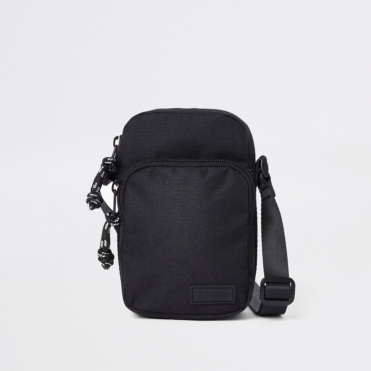 Black mini cross body flight pouch