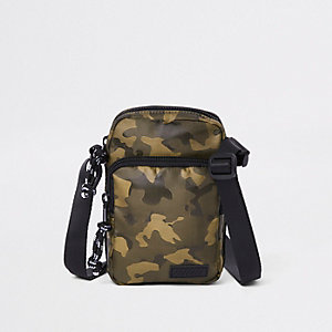 Green camo mini cross body flight pouch