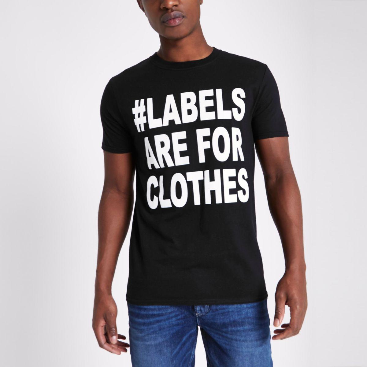 Ditch the Label charity – T-shirt noir