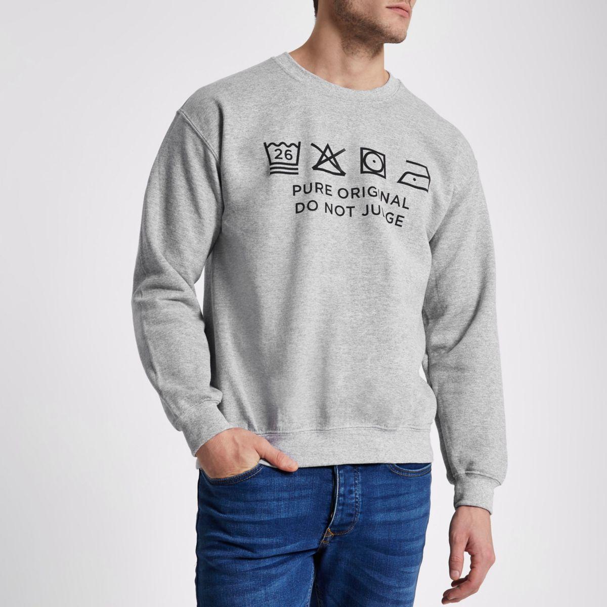 Grey marl Ditch the Label charity sweatshirt