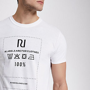 White Ditch the Label charity T-shirt