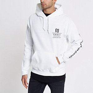 Ditch the Label – Weißer Hoodie mit Print