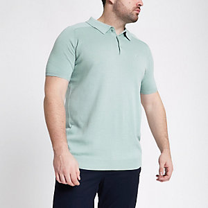 Big and Tall – Grünes Slim Fit Poloshirt