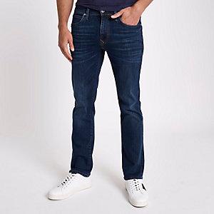 Donkerblauwe bootcut jeans