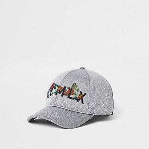 Grey 'MCMLX' embroidered scuba baseball cap