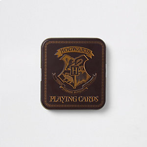 Red Harry Potter Hogwarts playing cards