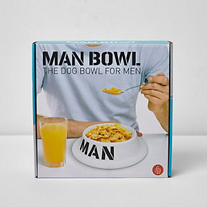 White novelty man bowl